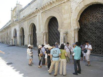 Celosías en las arcadas de acceso a la Mezquita de Córdoba.