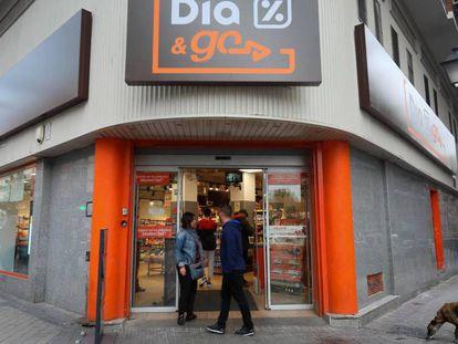 Tienda de la cadena Dia en Madrid.