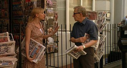 Scarlett Johansson y Woody Allen, en 'Scoop'.