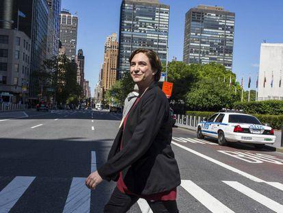 Ada Colau, alcaldesa de Barcelona, en Nueva York.