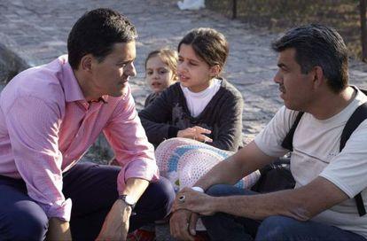 David Miliband, en septiembre en la isla griega de Lesbos.