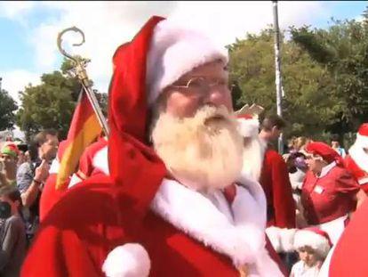 El Congreso Anual de Santa Claus se reúne en Copenhague
