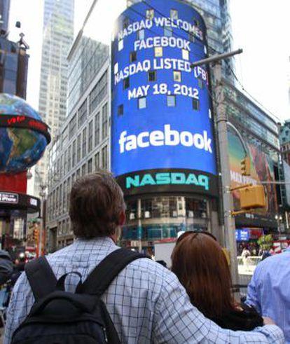 La sede de Nasdaq da la bienvenida a Facebook