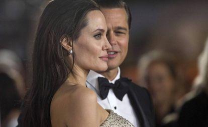 Angelina Jolie y Brad Pitt, en 2015.