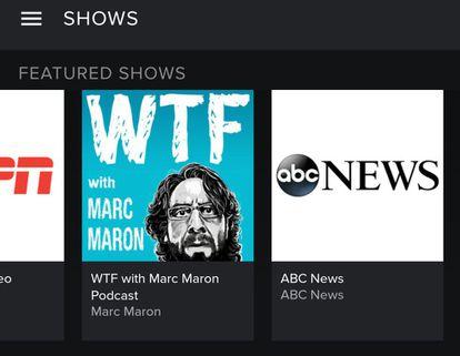 Oferta de contenido en vídeo en la aplicación de Spotify para Android.