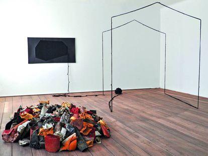 Instalación Herbert Egger y Christine Bauer en la Galeria Shiras (Valencia).