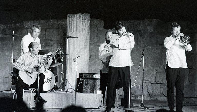 """Actuación del grupo de Jazz """"Charlie Bird"""" en 1969."""