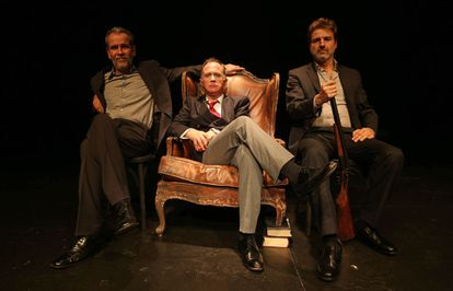 Willy Toledo, Luis Bermejo y Alberto San Juan.