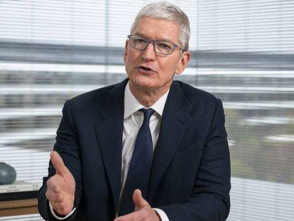 Tim Cook, consejero delegado de Apple, durante su participación en una Conferencia sobre Privacidad.
