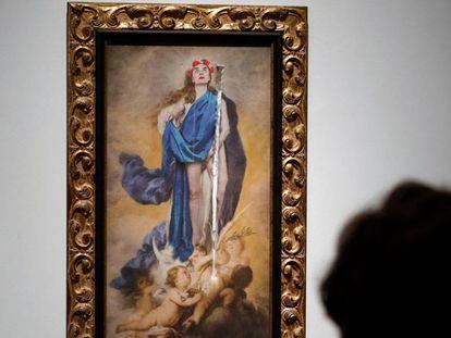 La obra `Con flores a María` de la exposición `Maculadas sin remedio'.