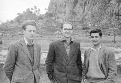 Los tres estudiantes recluidos en Cuelgamuros. De izquierda a derecha, Manuel Lamana, Nicolás Sánchez-Albornoz e Ignacio Faure.