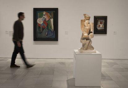 Vista de una de las salas del Reina Sofía en la está instalada la exposición 'Cubismo(s) y experiencias de la modernidad'.