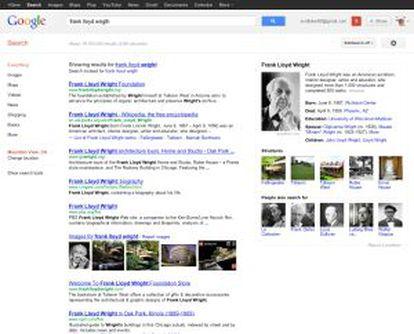 Resultados del nuevo buscador de Google.