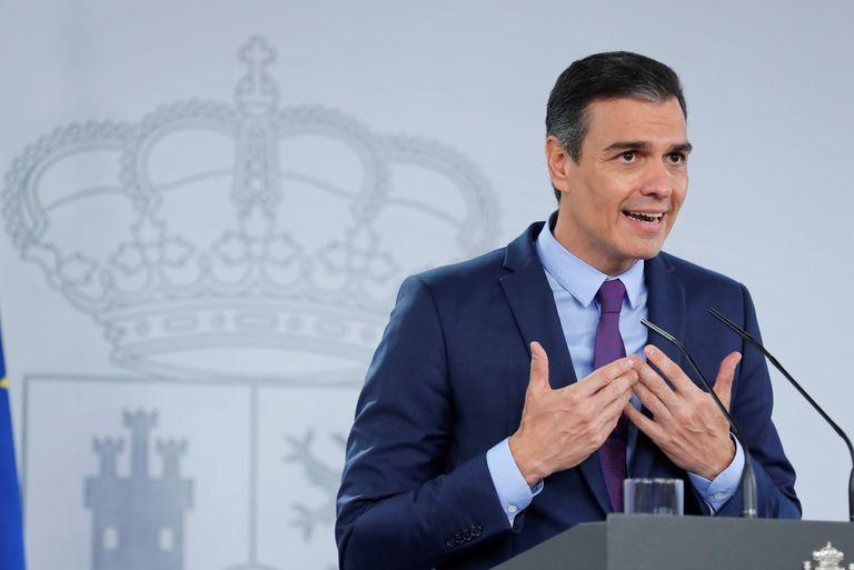 Pedro Sánchez, el martes, en la rueda de prensa tras el Consejo de Ministros.