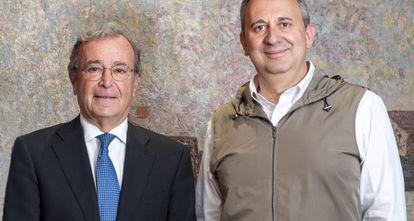 Luis Cantarell, presidente (izquierda), y Oriol Segarra, CEO de Uriach.