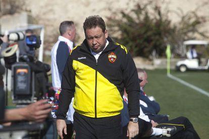 Leonid Slutski, en enero pasado, durante la concentración del CSKA en España