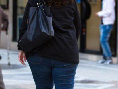 Una mujer con sobrepeso en Málaga.