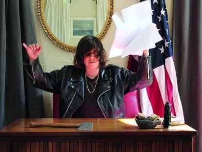 La artista y comisaria Connie Hockaday, impulsora del proyecto 'Artists-in-Presidents'.
