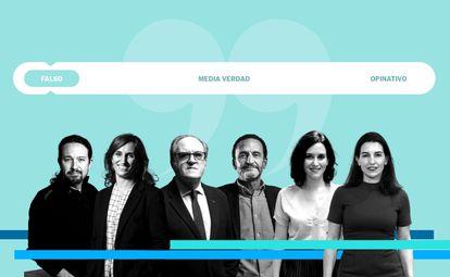 Los candidatos a presidir la Asamblea de Madrid.