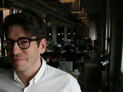 Yancey Strickler, en la nueva sede de Kickstarter.