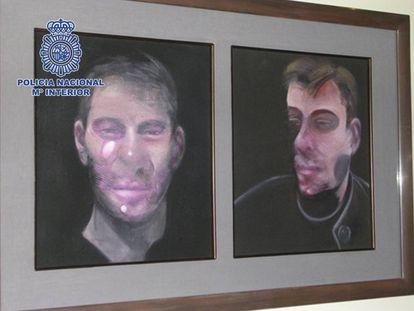 Fotografía facilitada por la Policía de uno de los cuadros de Francis Bacon sustraídos en 2015 en un domicilio de Madrid.