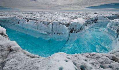 Deshielo de la capa superficial de Groenlandia.