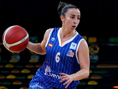 Silvia Domínguez, en la Supercopa con el Perfeumerías Avenida de Salamanca. feb