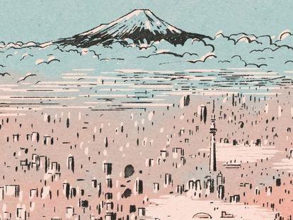 Una de las páginas del cómic 'Tokio: vida de pueblo en la metrópoli'.