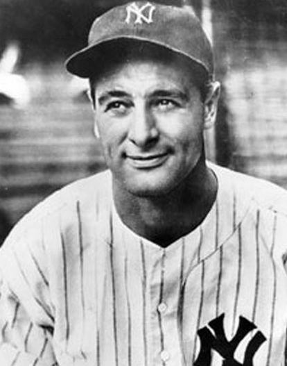 El beisbolista estadounidense Lou Gehrig