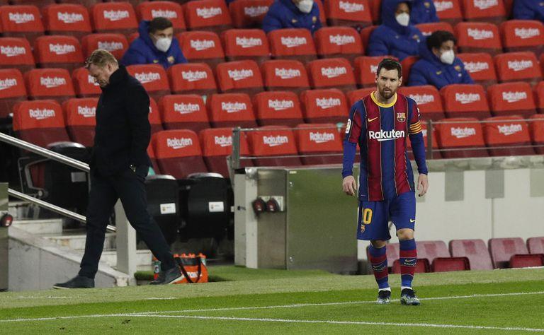 Koeman y Messi, durante un partido de esta temporada.