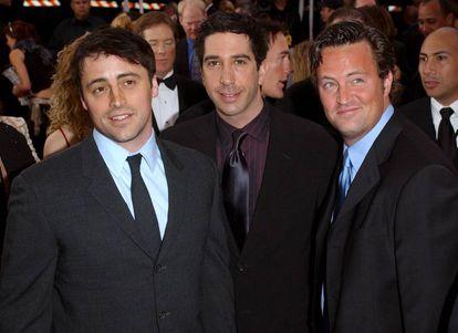 Tres de los protagonistas de 'Friends', Matt Le Blanc, David Schwimmer y Matthew Perry.