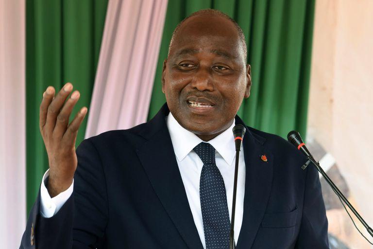 Gon Coulibaly interviene en un acto en el oeste de Costa de Marfil, el 9 de mayo de 2019.