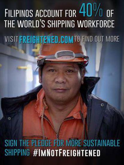 El 40% de los trabajadores a bordo de los cargueros son filipinos porque salen baratos y saben inglés.
