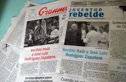 La prensa oficial cubana informó del encuentro entre los políticos.