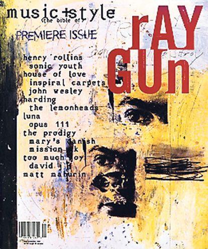 <b>Portada del primer número de la revista Ray Gun (noviembre 1992)</b>