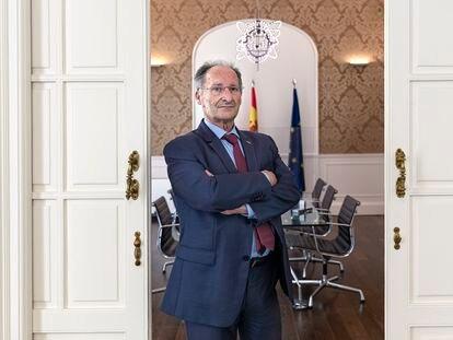 Joan Llinares, director de la Agencia Valenciana Antifraude, en la sede de la entidad en Valencia.
