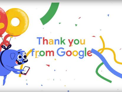 20º aniversario de Google