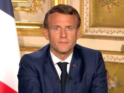 El presidente Emmanuel Macron se dirige a los franceses el 13 de abril
