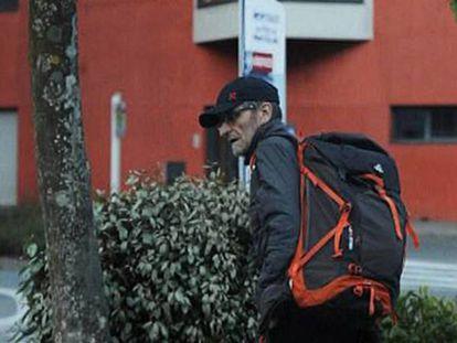 Josu Ternera, momentos antes de su detención en Sallanches (Francia), el 16 de mayo de 2019.