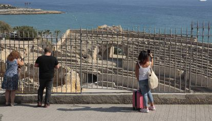 Vista del anfiteatro romano de Tarragona.