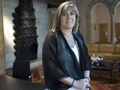 Núria Marín, presidenta de la Diputación de Barcelona, en su despacho.