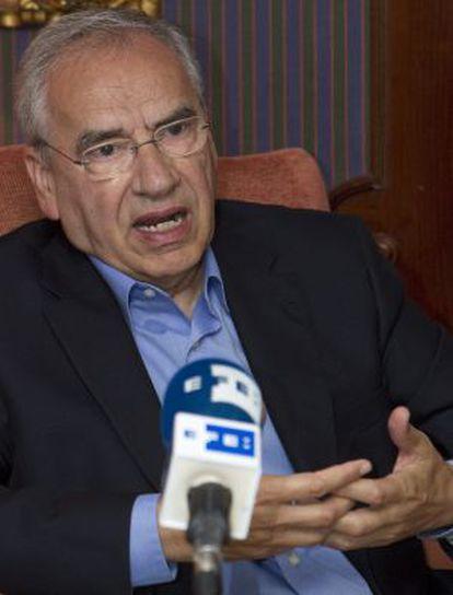 Alfonso Guerra, en una entrevista hoy con Efe.