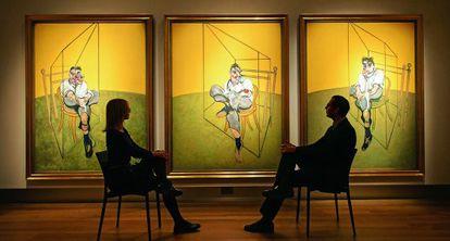 'Tres estudios de Lucian Freud', de Francis Bacon, batió récords al subastarse por 105,8 millones de euros.