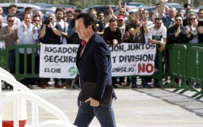 Juan Anguix, presidente del Elche, el pasado mes de abril.