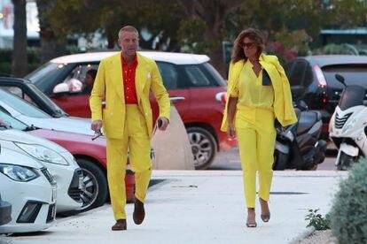 Lapo Elkann y Joana Lemos, en Ibiza el pasado junio de 2020.