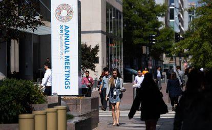 Edificio donde se celebra la Asamblea Anual de FMI