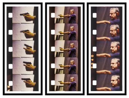 'Tres tiros', fotografía tomada por Andrés Denegri del artista Óscar Bony.