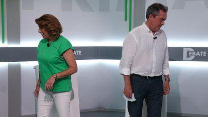 Juan Espadas y Susana Díaz, dos de los candidatos a las primarias del PSOE de Andalucía.