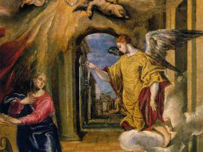 'La Anunciación' de El Greco que han de devolver las hermanas Muñoz en el plazo de un mes.