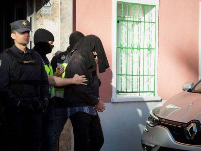 Detención de un presunto yihadista en Madrid.